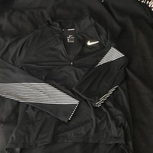 Quarter zip black Nike jacket